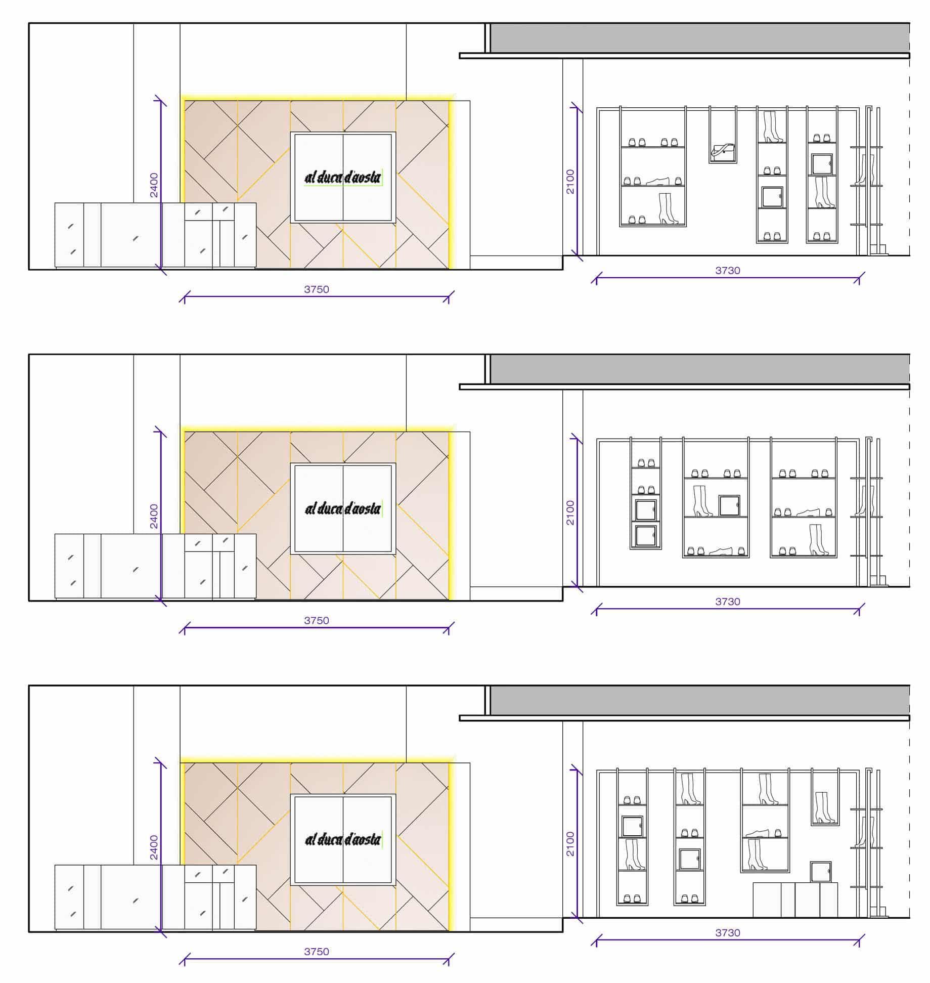 Estudio arquitectura Plano Boiserie