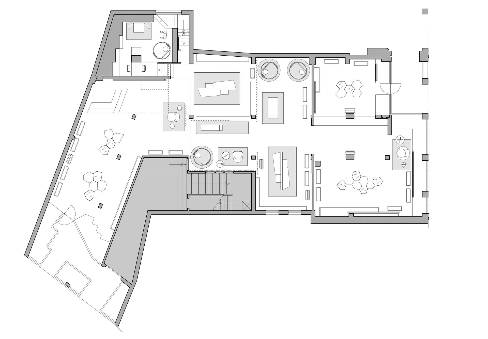 estudio arquitectura plano distribución