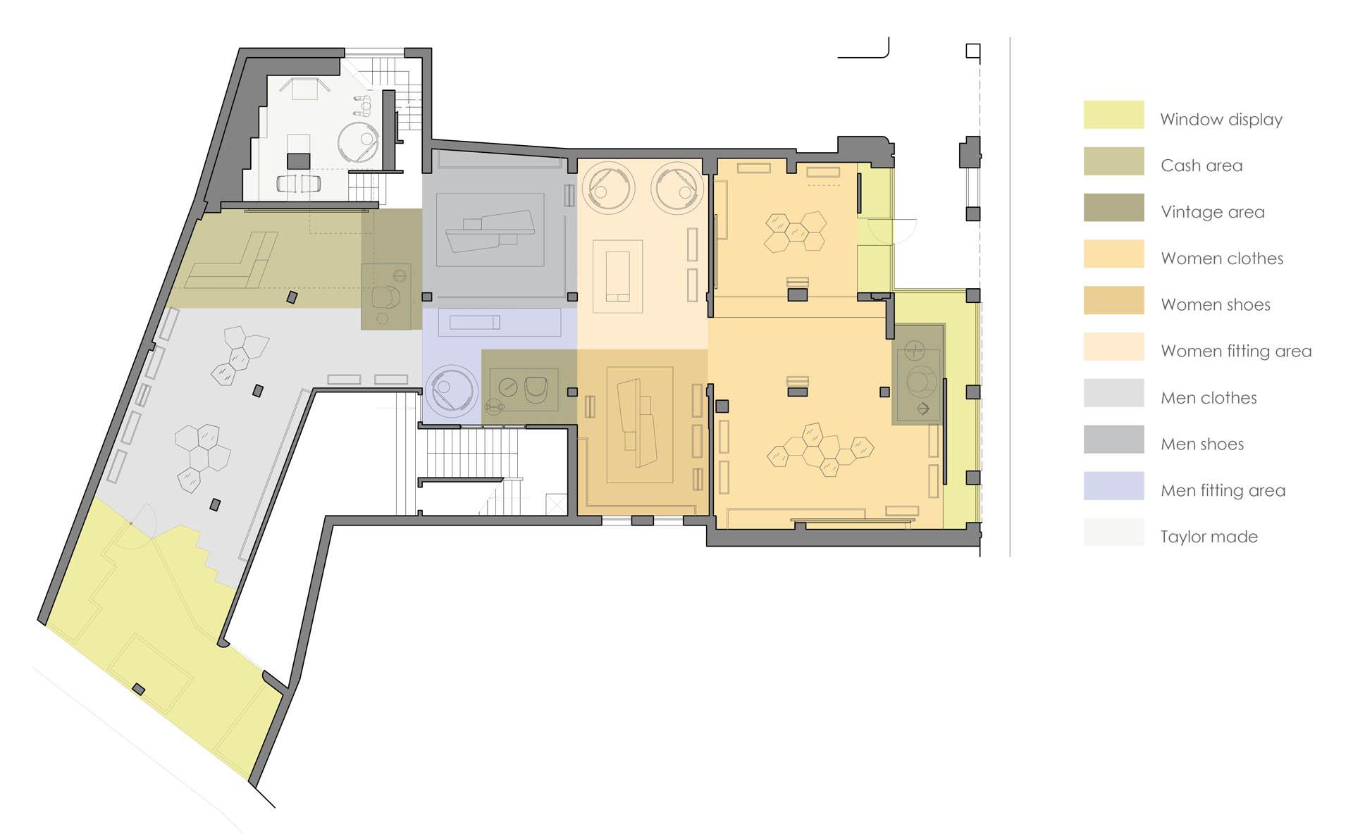 Estudio Arquitectura Plano Zonas