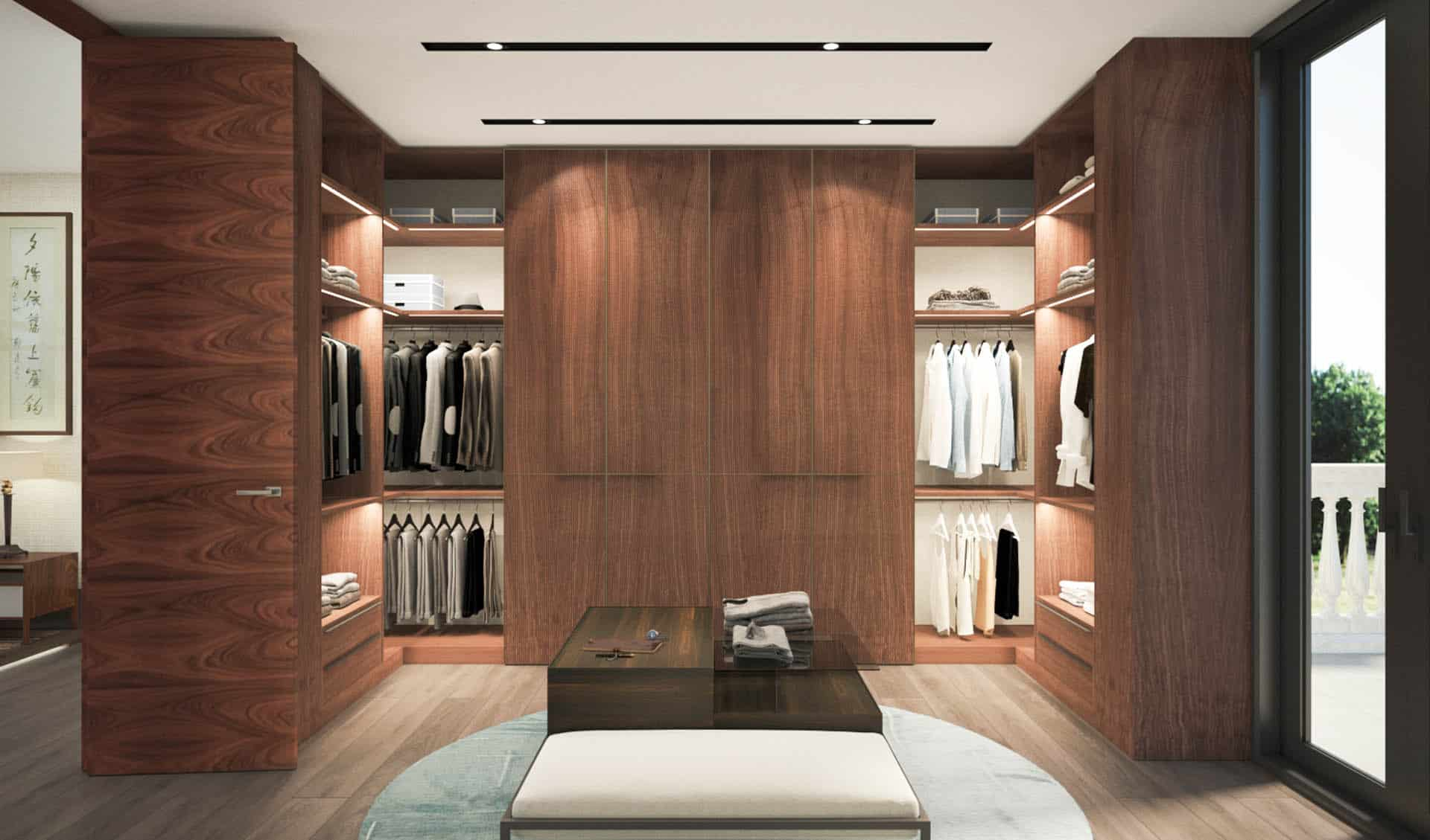 walk in closet. muebles de diseño