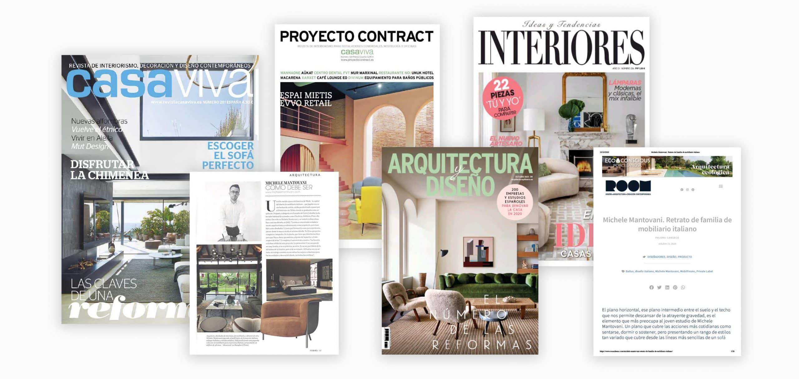 Durante 2020 conseguimos dar visibilidad a nuestros proyectos en las revistas de arquitectura e interiorismo más influyentes del país.
